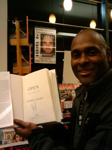 "After getting my copy of ""Open"" signed by Andre Agassi"