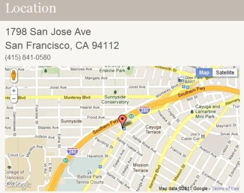 City Racquet Shop location graphic