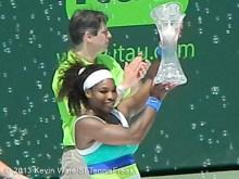 Serena with trophy