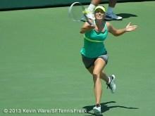 Maria Sharapova running forehand