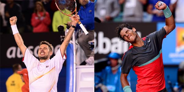Stan Wawrinka and Rafa Nadal (Tennis Australia)