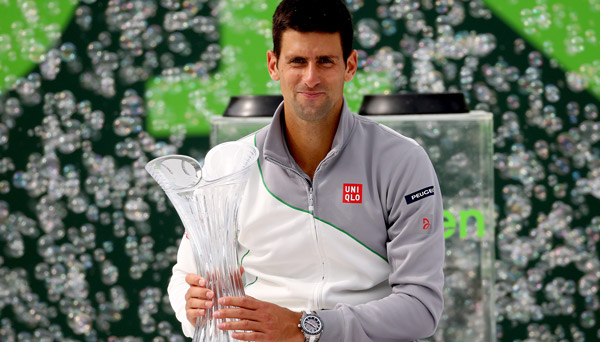 Novak Djokovic, 2014 Sony Open champion (photo courtesy of sonyopentennis.com)