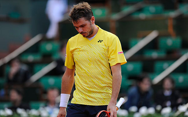Stan Wawrinka after losing to Guillermo Garcia-Lopez (© FFT)