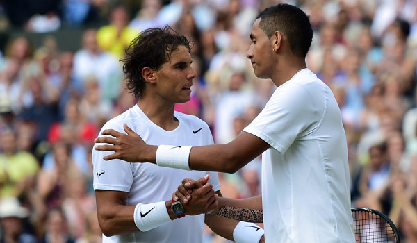 Rafa Nadal and Nick Kyrgios (Florian Eisele/AELTC)