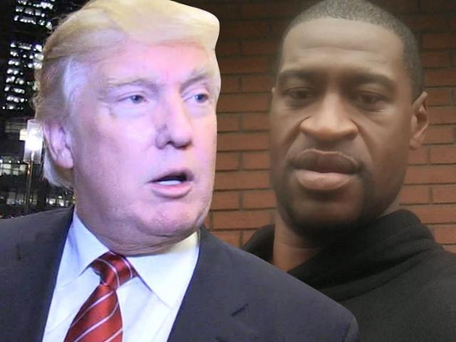 Photo - Trump vs George Floyd - TMZ