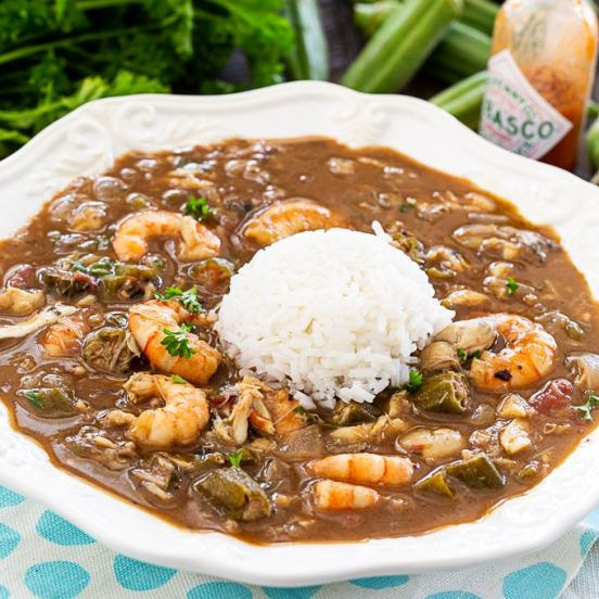 Photo - Seafood And Okra Gumbo -Southern Spicy Kitchen
