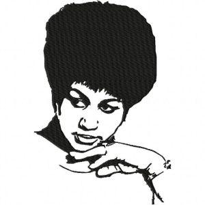 Aretha Franklin Embroidery Design 2