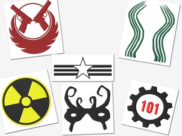 Fallout Gamer Embroidery Designs Set