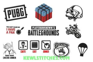 PUBG Player Unknown Battlegrounds Embroidery Designs