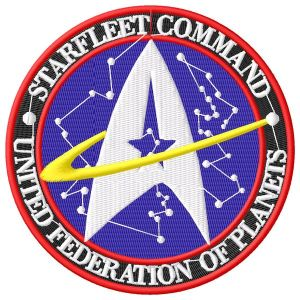 Large Star Treck Star Fleet Emblem Logo