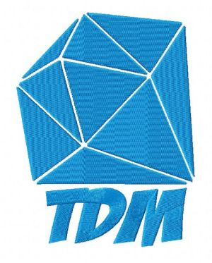 Minecraft Dan TDM Logo Embroidery Design