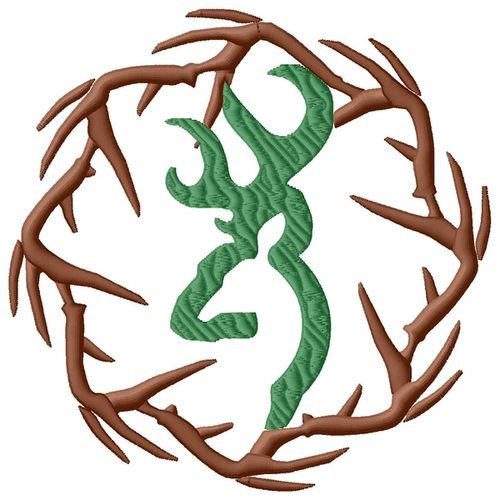 browning antler embroidery design