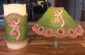 Browning FSL Wine Glass lamp Shade and Candle Wrap Designs