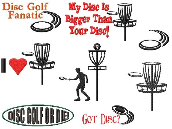 Disc Golf Embroidery Designs