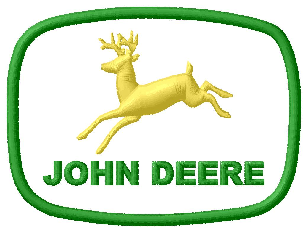 John Deere Emblem Embroidery Designs : John deere embroidery design no fill