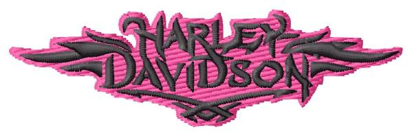 FREE Pink And Black Harley Embroidery Design