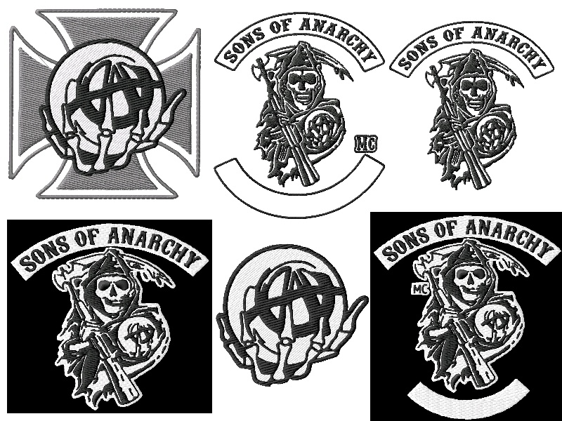 Sons of anarchy embroidery designs