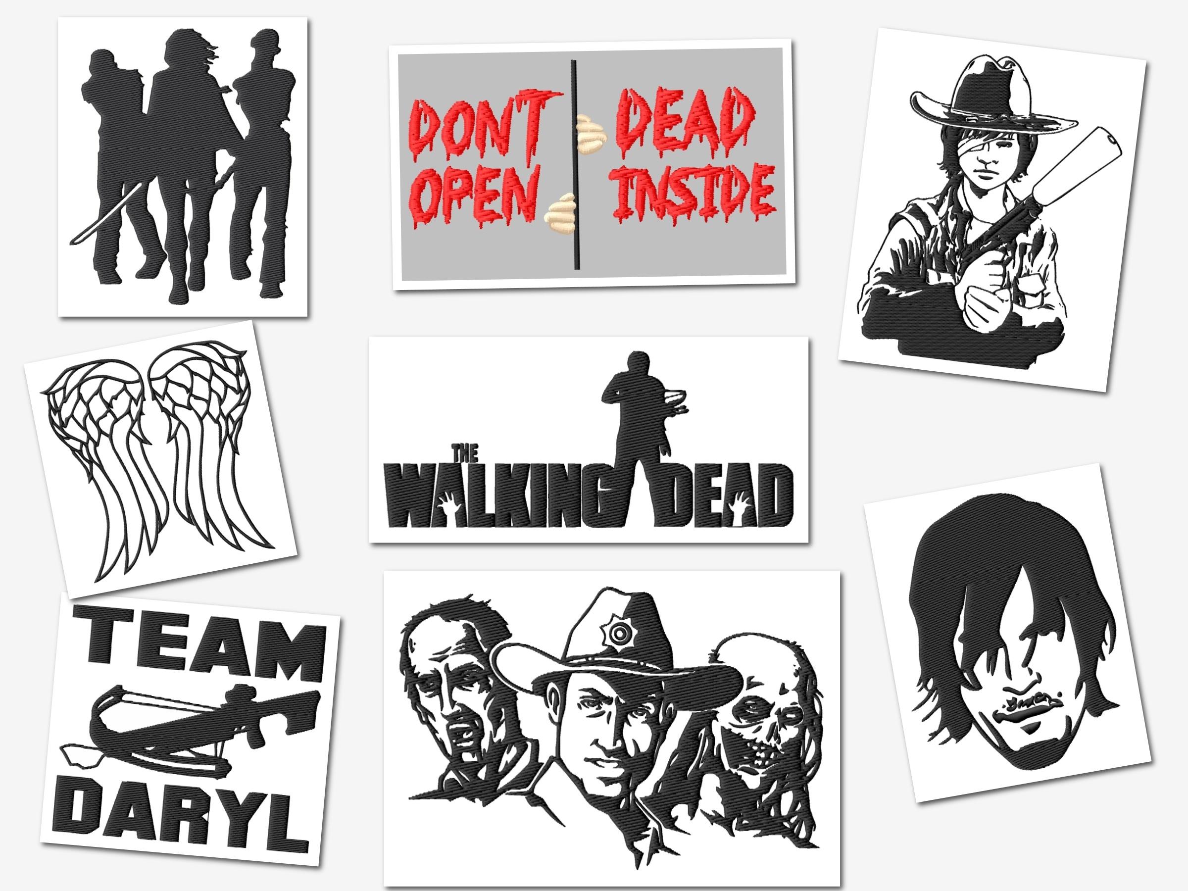 Walking Dead Embroidery Designs Set