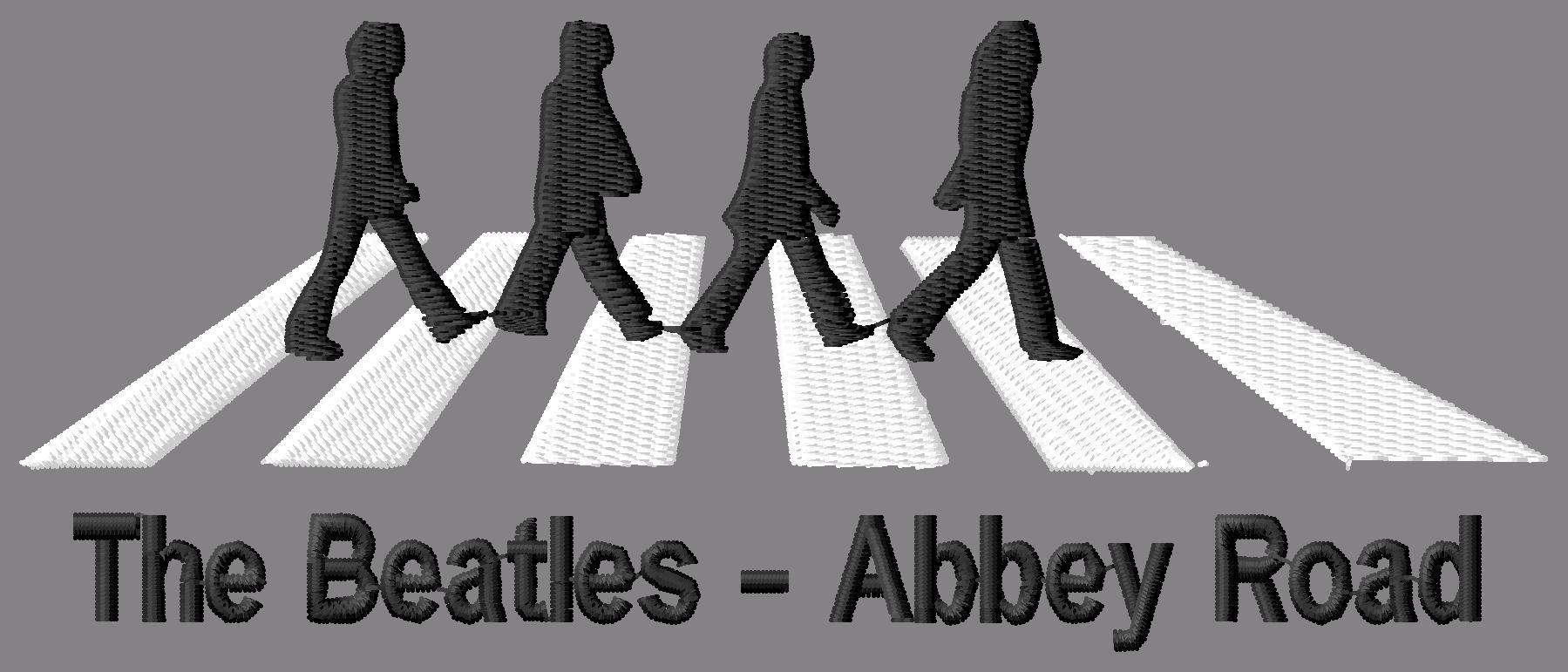 The Beatles Abbey Road Embroidery Design