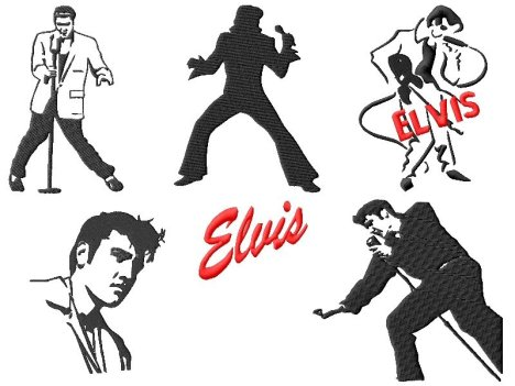 Elvis Embroidery Designs Set #2_P2
