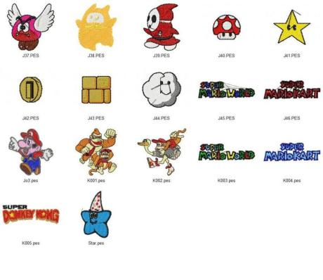 Super Mario Bros./Donkey Kong Embroidery Designs Set_P2