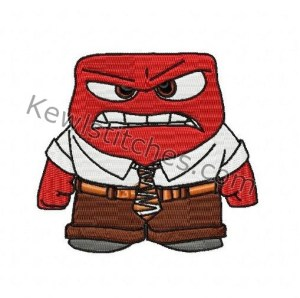 Inside Out Angry Embroidery Design