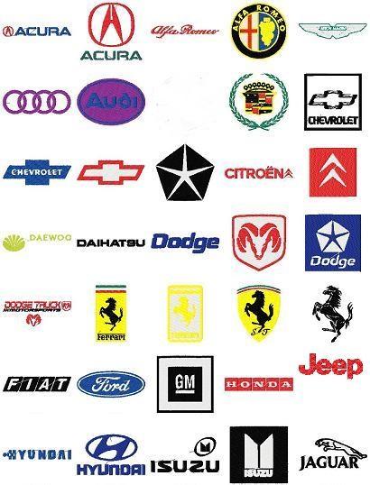 Automobile Car Logos Embroidery Designs