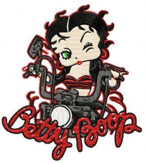 Biker Betty Boop Embroidery Design