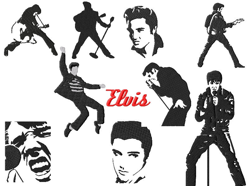 Elvis Embroidery Designs Set #3