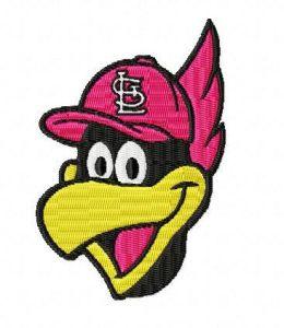 FREE STL St. Louis Cardinals Fredbird Face Design