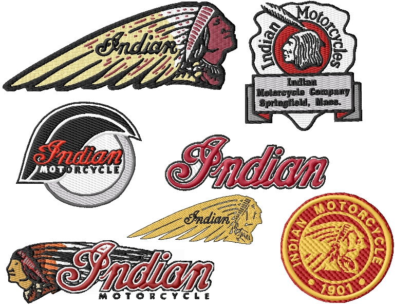 Indian Motorcycle Embroidery Designs