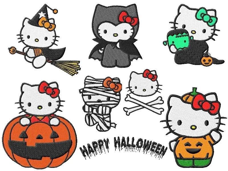 Hello Kitty Halloween Embroidery Designs (2 sizes!)