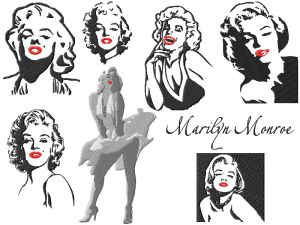 Famous People Embroidery Designs Marilyn Monroe