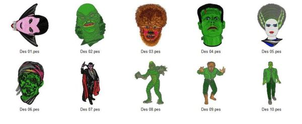 Movie Monster Xlarge Embroidery Designs