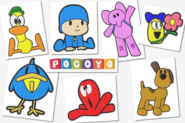 Pocoyo Embroidery Designs Set