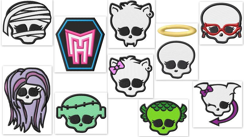 Monster High Skullettes Embroidery Designs