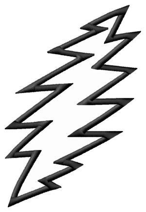 Grateful Dead Lightning Bolt Embroidery Design