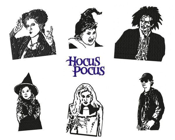 Hocus Pocus Embroidery designs Set