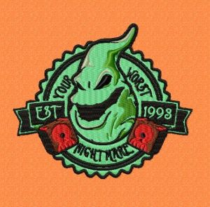 Nightmare Before Christmas Oogie Badge Style Embroidery Design