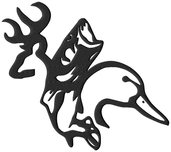 Browning Duck Fish Merged Sportsmans Embroidery Designs