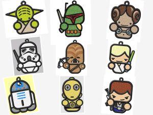 Star Wars FSL Ornament or Suncatcher Embroidery Designs Set