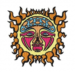 Sublime Sun Embroidery Design