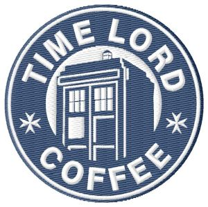 Dr Who Coffee Embroidery Design