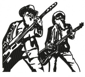ZZ Top Duo Embroidery Design