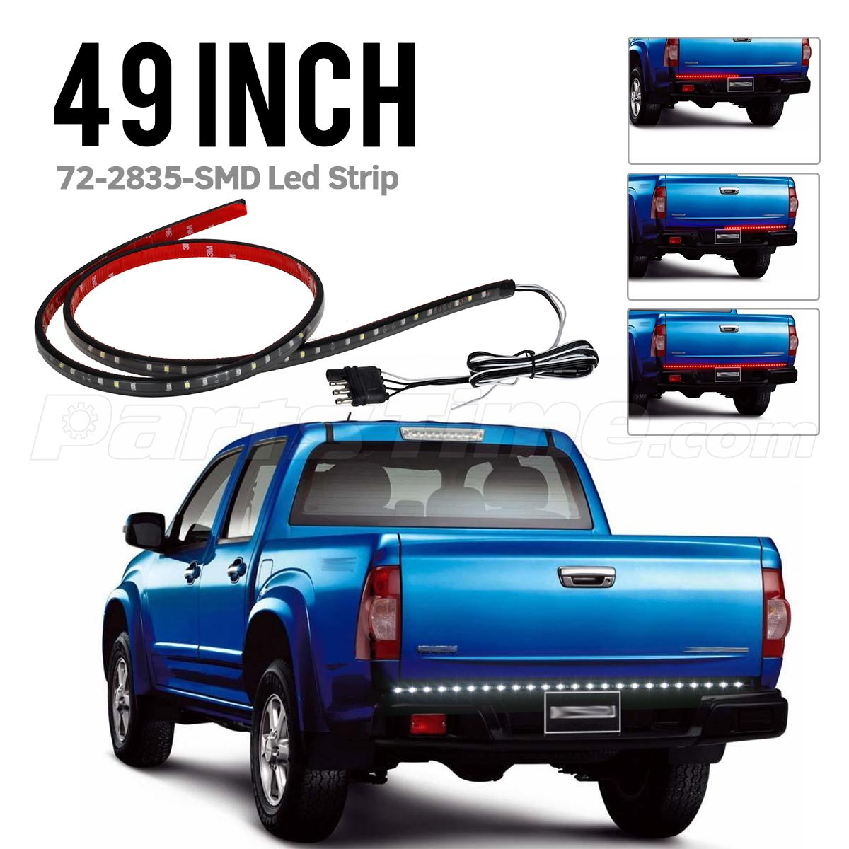 led tailgate bar 1993 honda accord headlight wiring diagram 48 quot truck light red white reverse stop