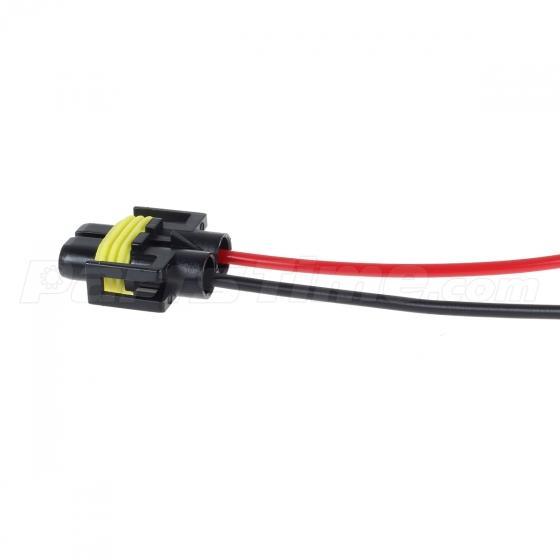 Set/2 H11 H8 Heavy duty wire headlight harness female