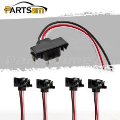 Trailer Pigtail Wiring Diagram Capacitor Ac 4pcs Round Oval Stop Turn Tail Lights 3 Prong