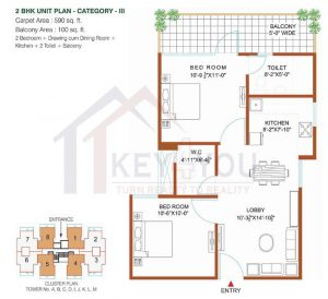 Vardhman affordable housing projects in gurgaon Floor Plan