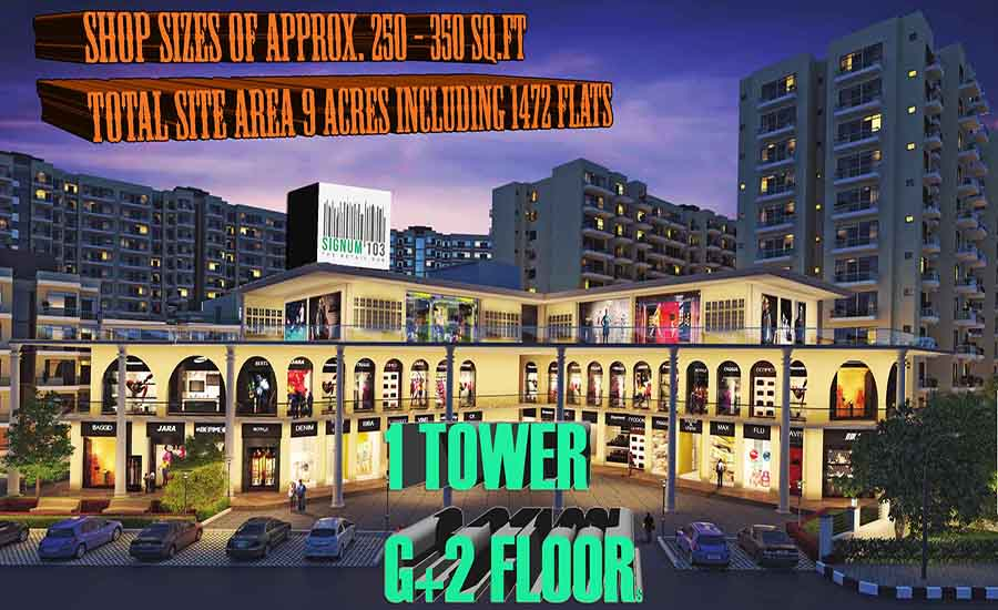 Signature Global Signum 103 Gurgaon Retail Shops for Sale in Sec-103