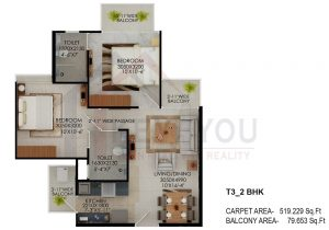 Signature Global the Millennia Floor Plan 3